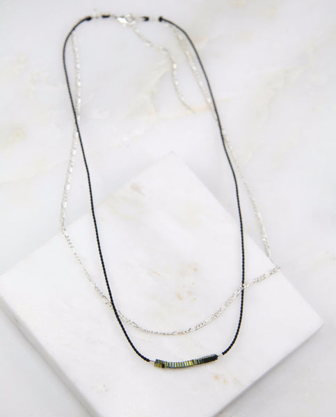 Pure Alchemy Hematite Chain & Thread Necklace