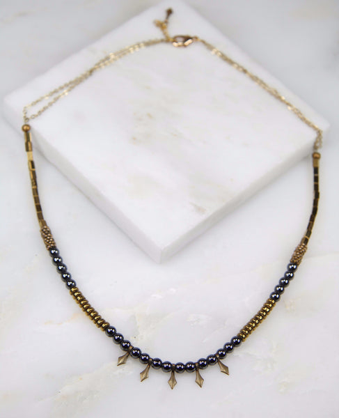 Luna Queen Hematite Chain Necklace