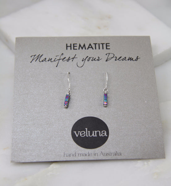 Pure Alchemy Hematite Thread Earring