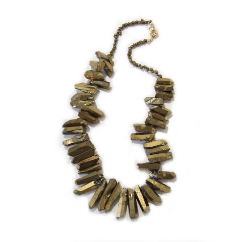 Spectrum Gold Dipped Quartz Neckpiece