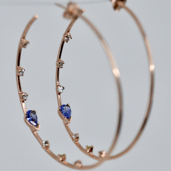 All That Glitters Tanzanite Large Hoop