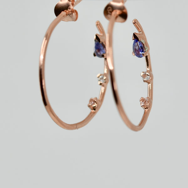 All That Glitters Hoop Tanzanite Earring