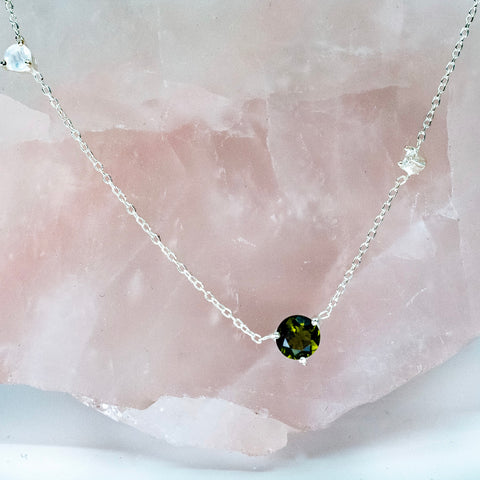 All That Glitters Green Tourmaline Necklace