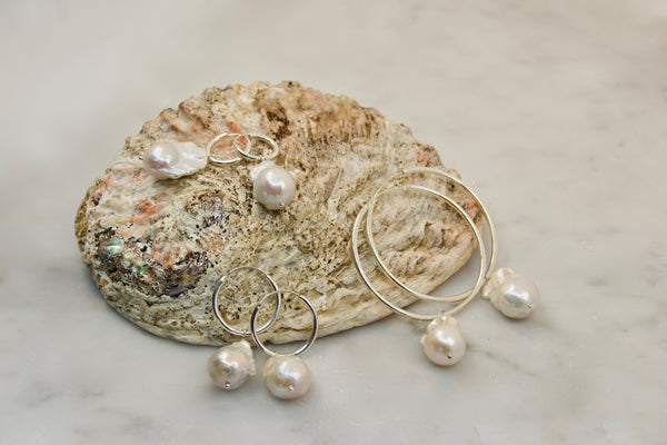 Golden Age Pearl Large Hoop