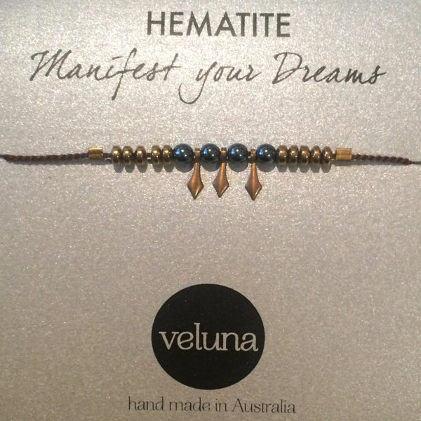 Luna Queen Hematite Thread Bracelet