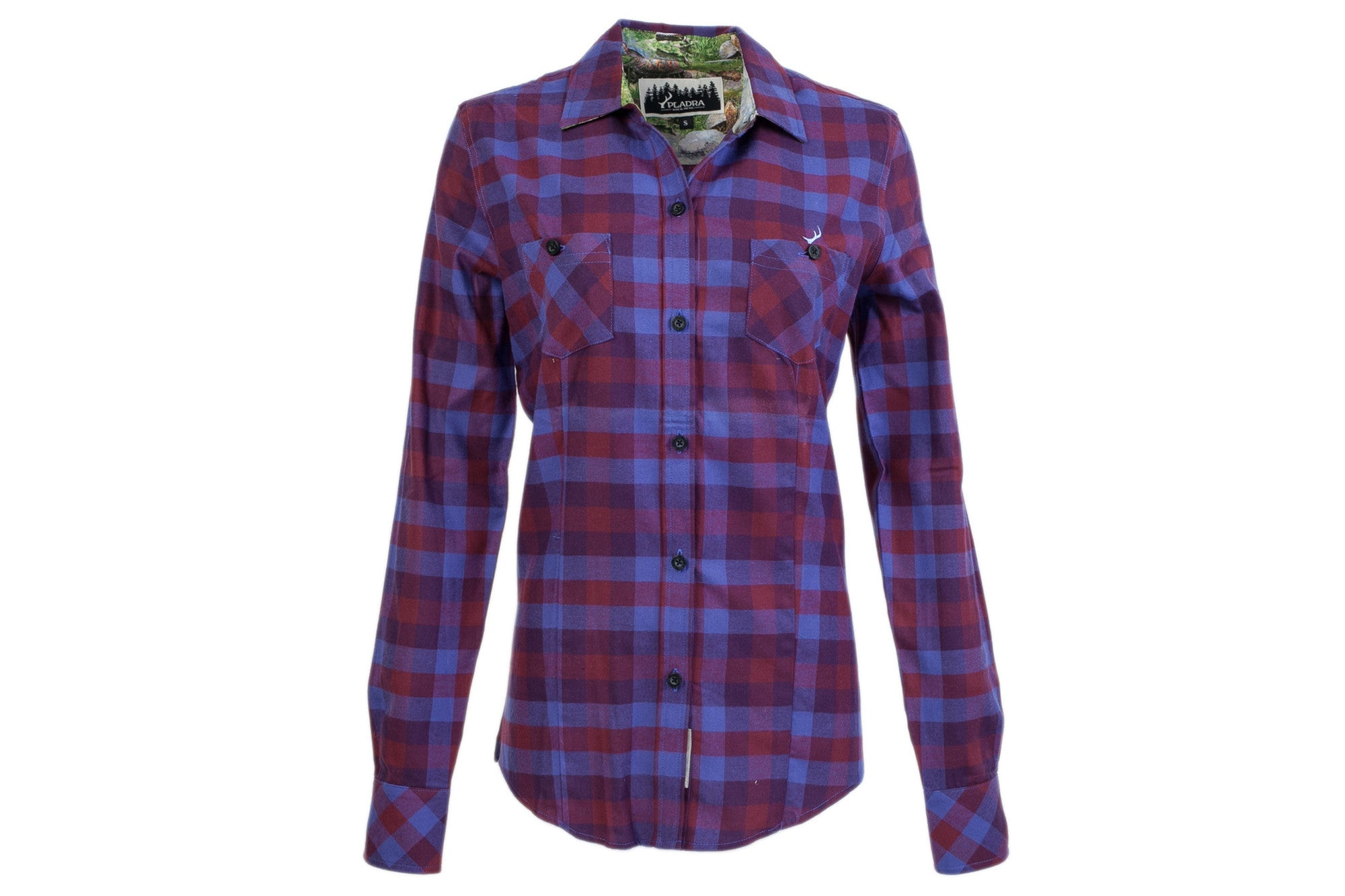 Womens Peregrine Flannel Shirt Bayside Purple Flannel Shirt