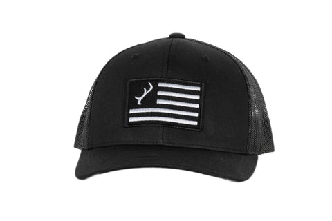 Black Flag Logo Snapback Hat