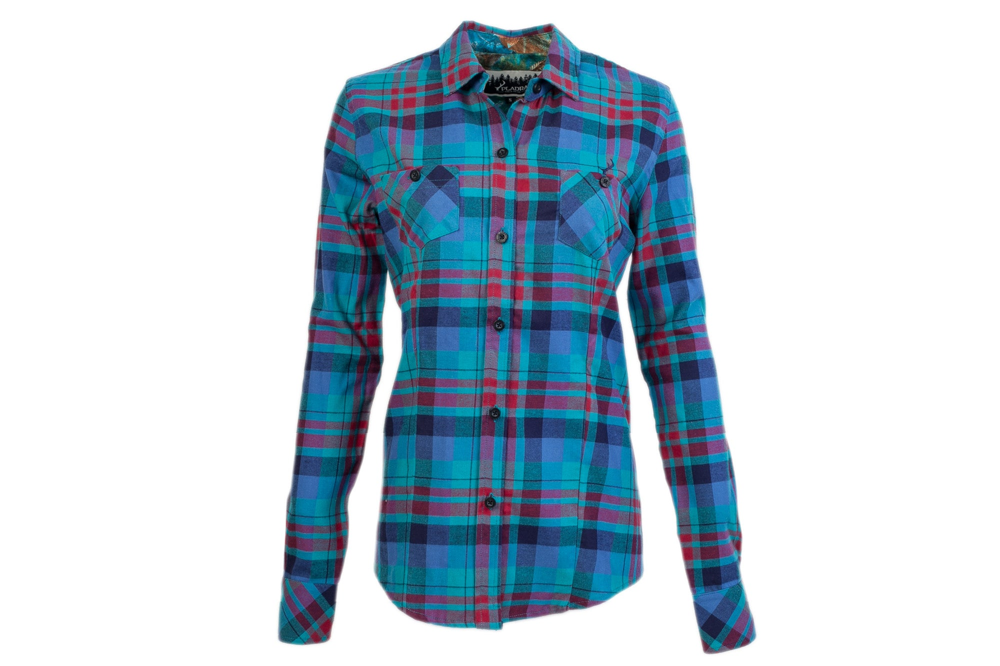 6546f7d5 Turquoise Flannel Shirt Womens