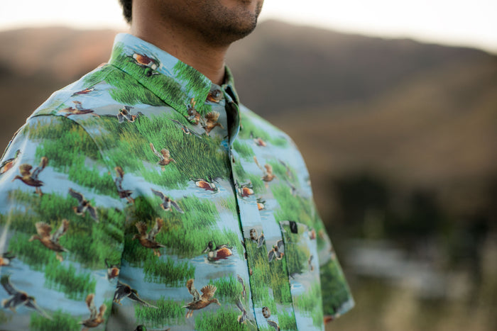 Men's S/S- Printed Spoonbill Ducks
