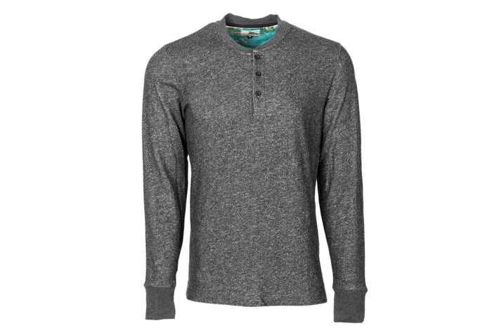 Men's Charcoal Grey Heather Henley