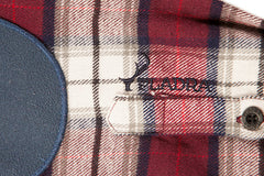 Men's Leon - Half Moon Maroon Flannel