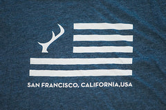 Men's T-Shirt - Indigo Blue Flag