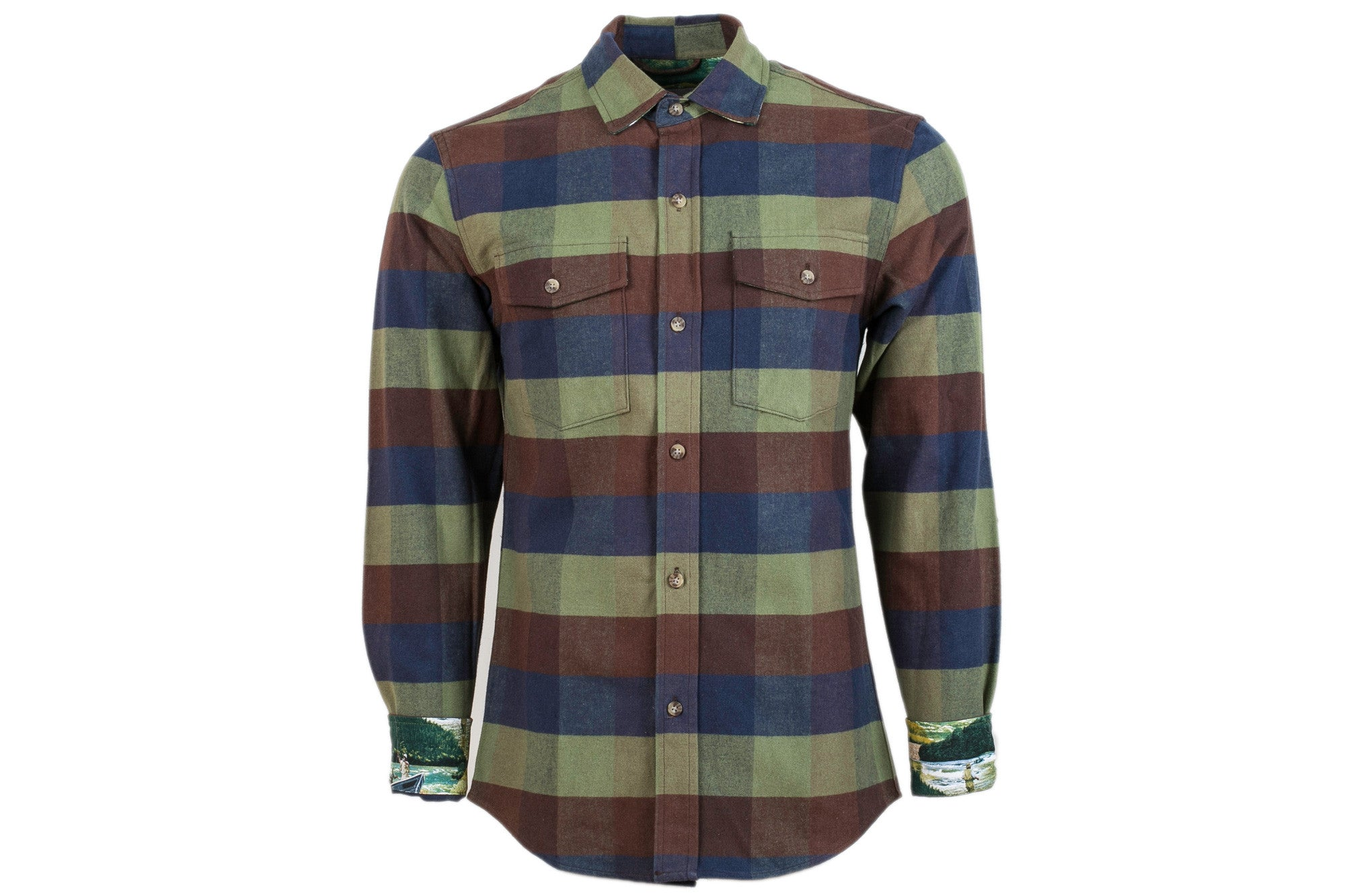Men's Leon - Arbor Blue II Flannel