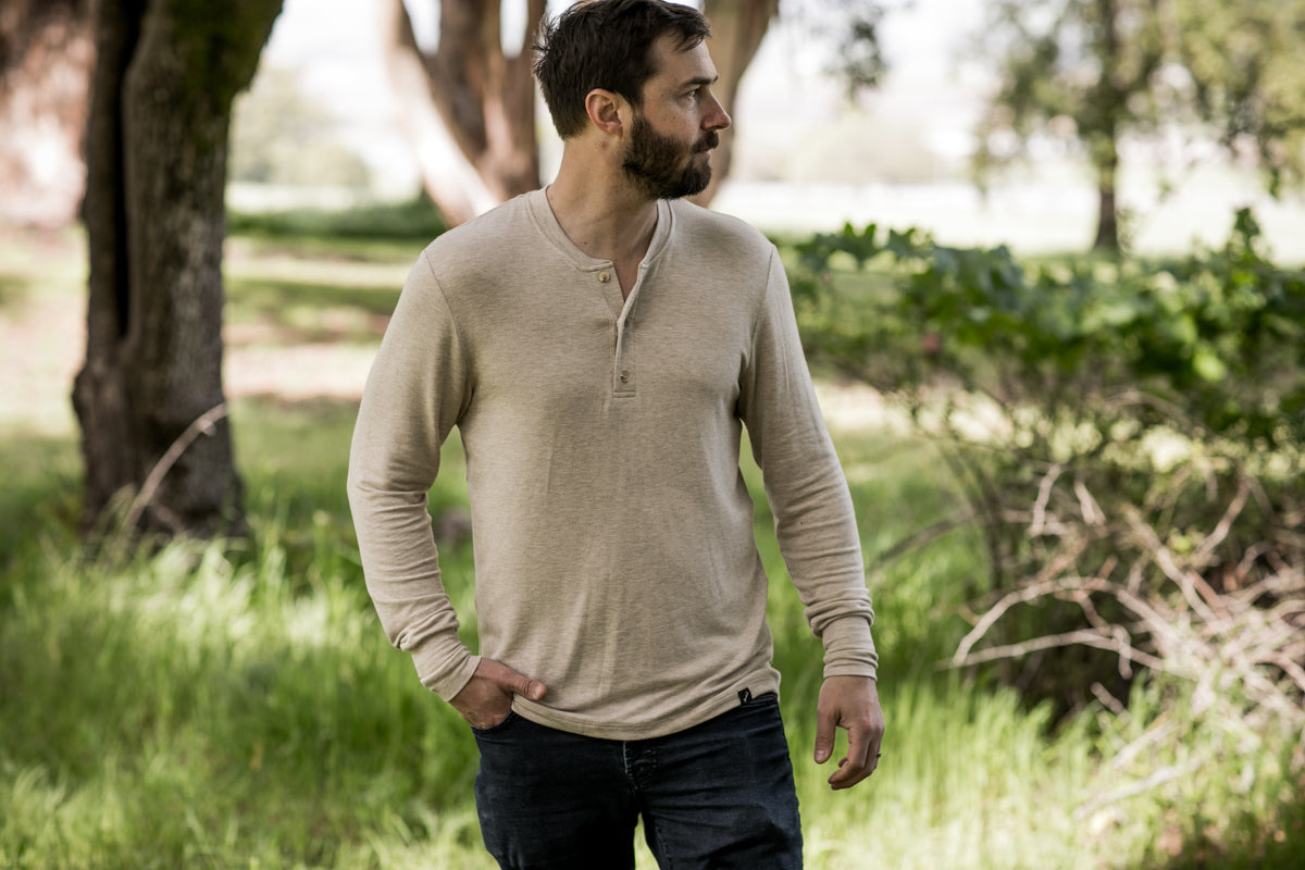 Men's Oatmeal Henley