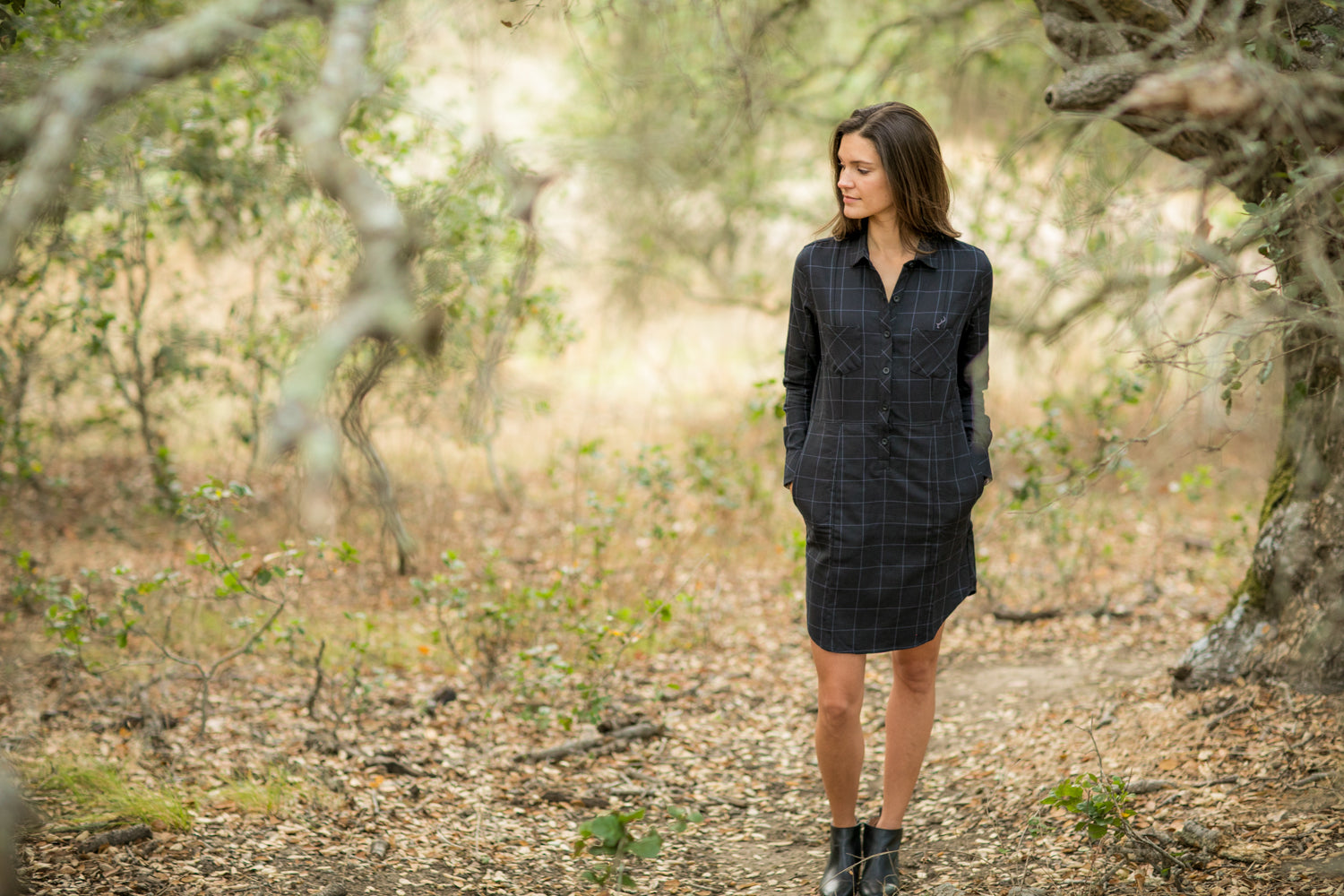 Women's Dress - Thunder Black Flannel