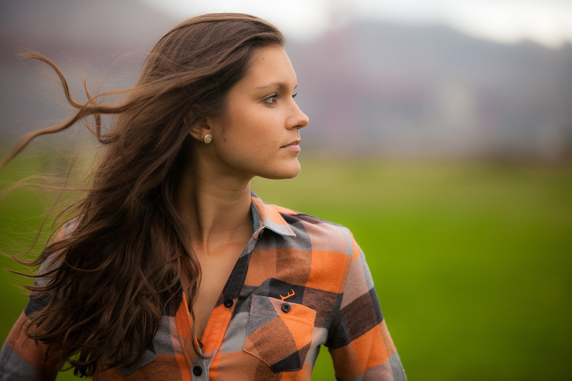 Women's Peregrine - Giant Orange Flannel