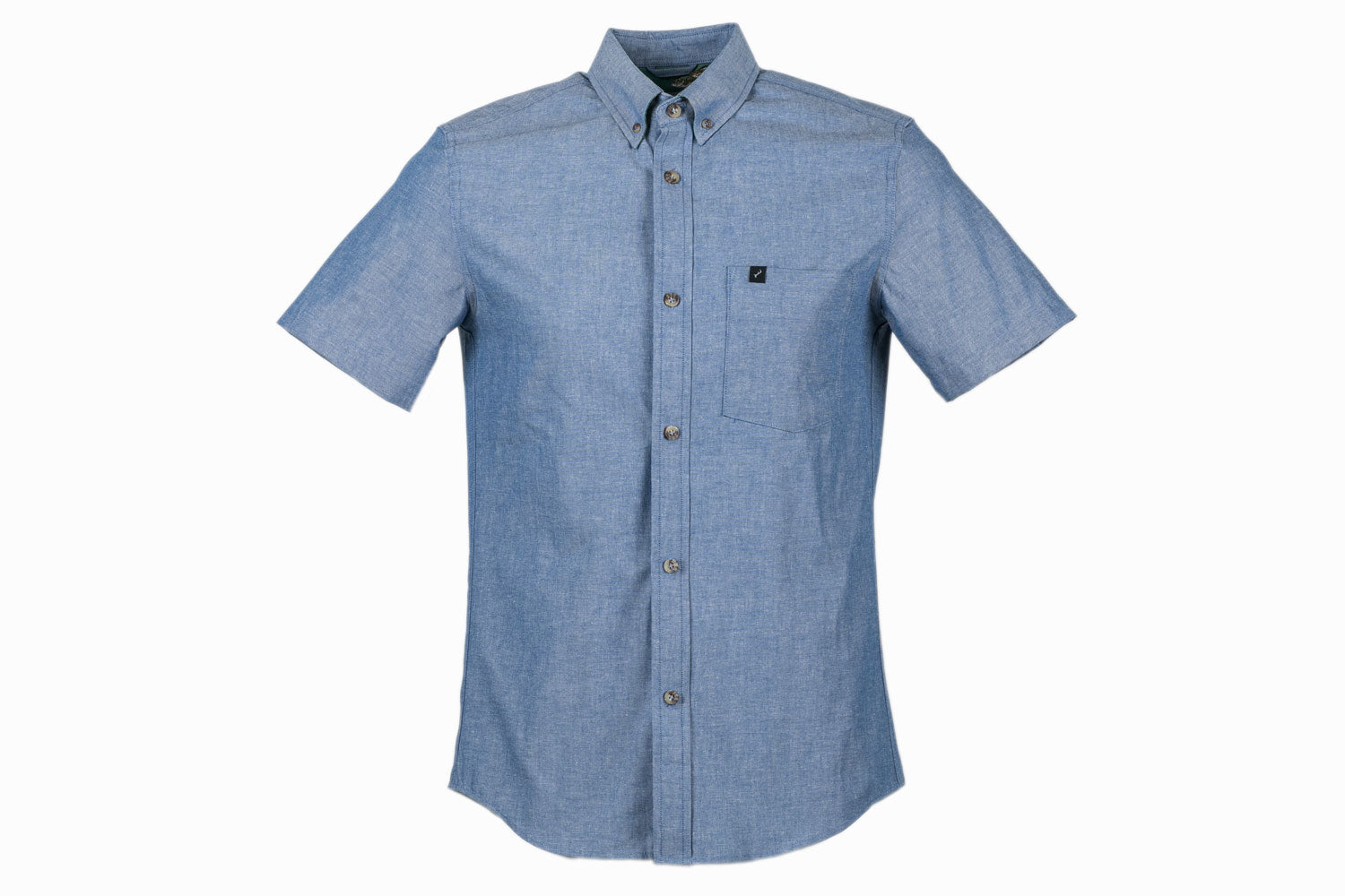 Men's S/S- Moonshine Blue Chambray