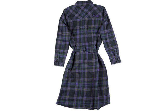 Women's Dress - Sky Purple Flannel