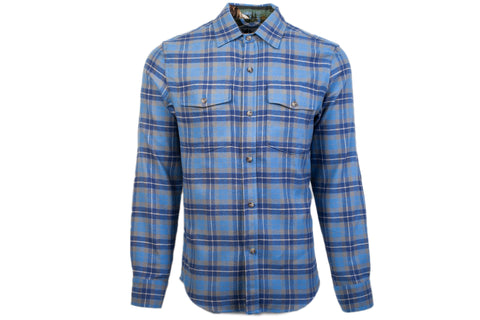 Men's Leon - Smokey Blue Flannel