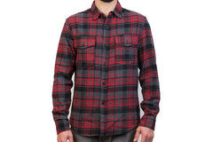 Men's Leon - Stone Red Flannel