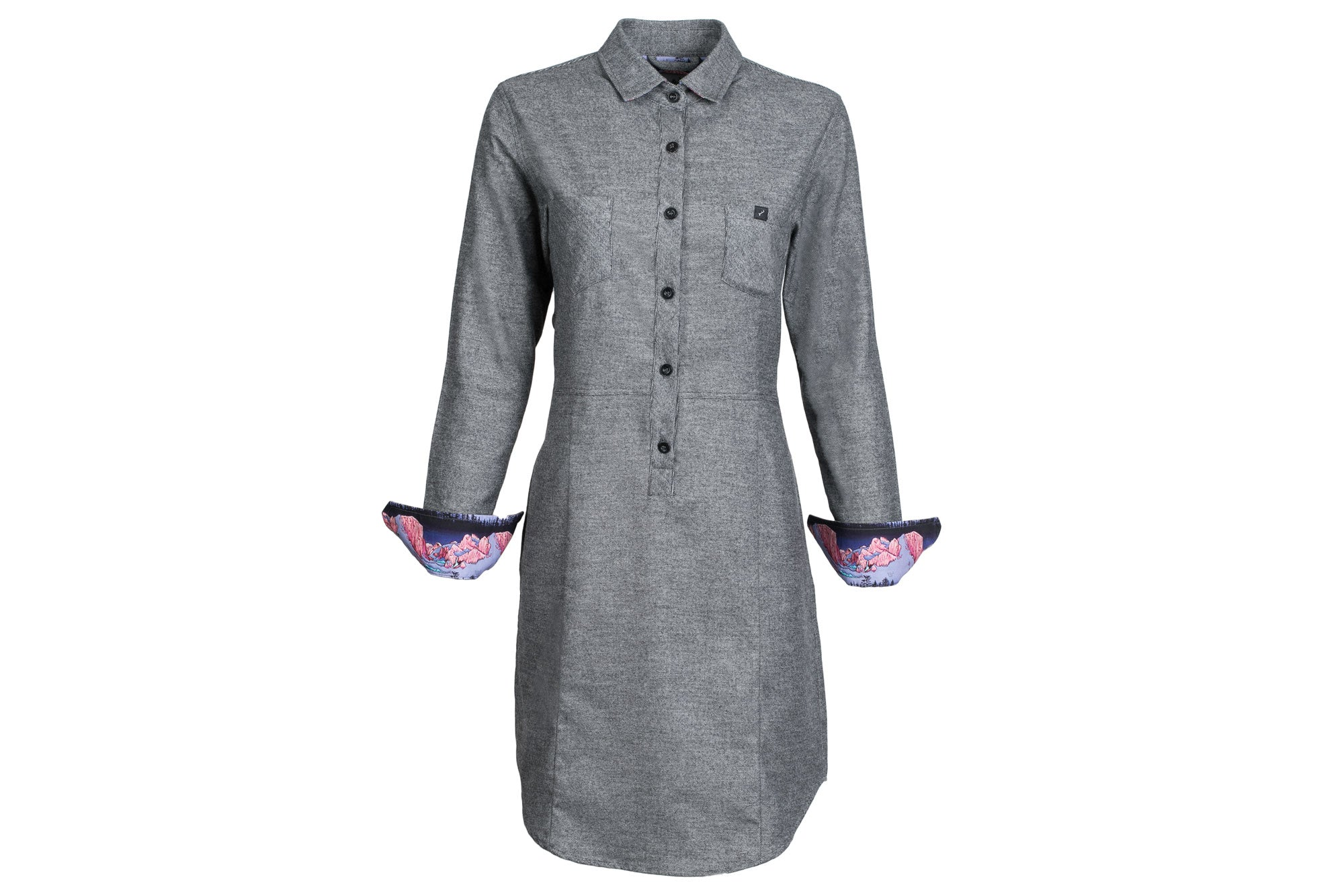 Women's Shirt Dress - RP Charcoal Heather Grey