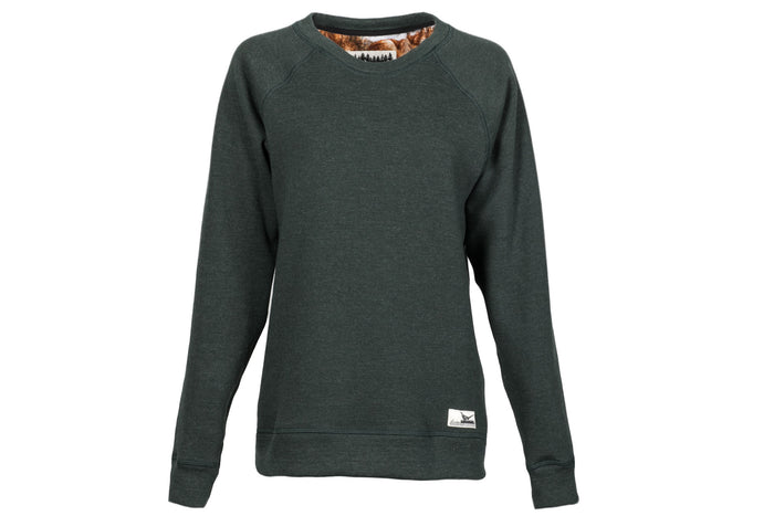 Women's Crew Neck - Emerald Green Heather Sweatshirt