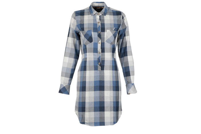Women's Dress - WhiteWater Blue Flannel