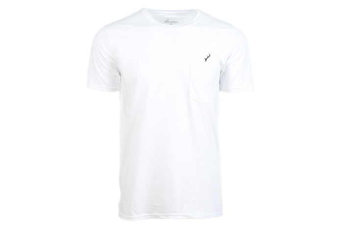 Men's T-Shirt - White Pocket Logo