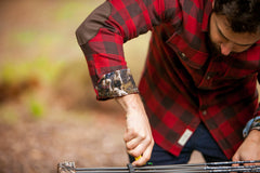 Men's Leon - Rust Red Flannel