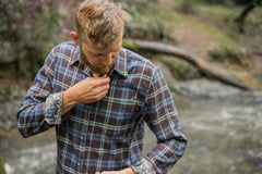 Men's Elli - Cazadero Brown Flannel
