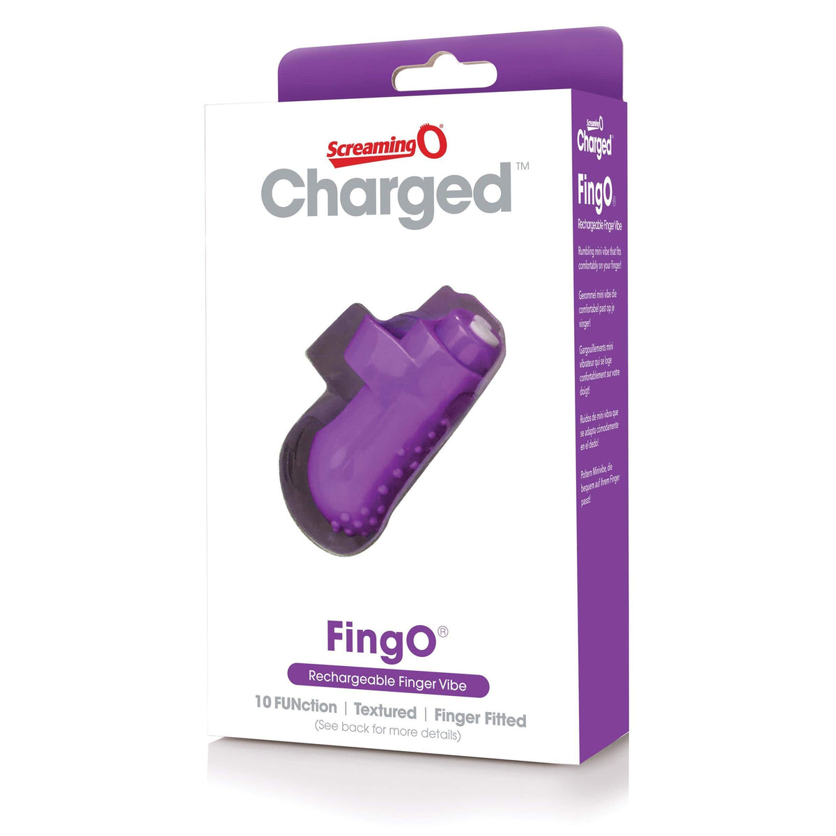 charged fingo rechargeable finger vibe purple
