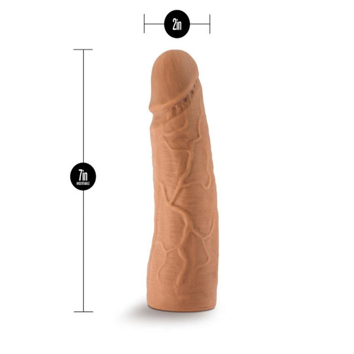 lock on 7 inch realistic lock on dildo mocha