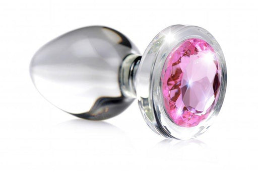 pink gem glass anal plug small adult sex toys