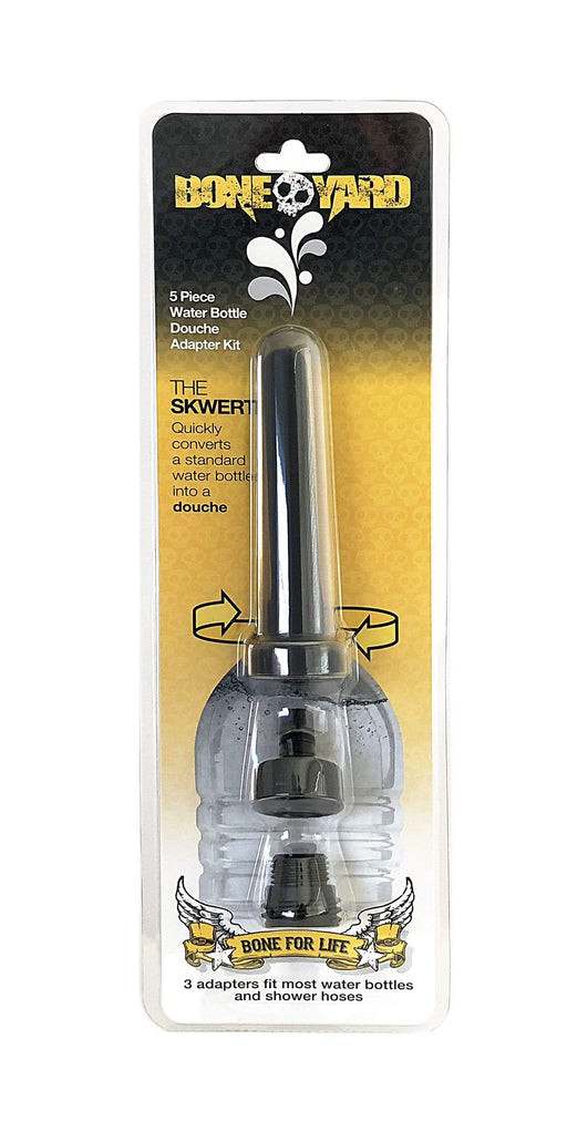 boneyard the skwer 5 pc water bottle douche adapter kit