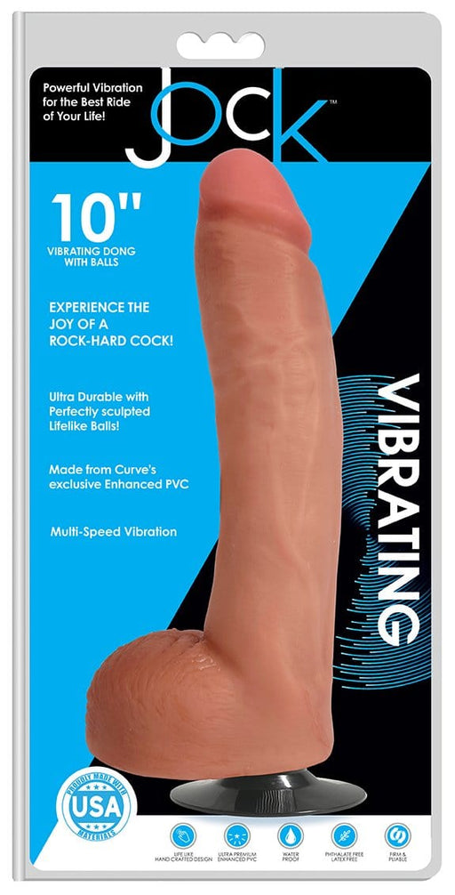 jock 10 inch vibrating dong with balls