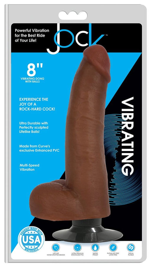 jock 8 inch vibrating dong with balls