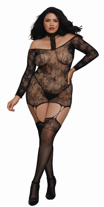 versatile garter dress queen size black