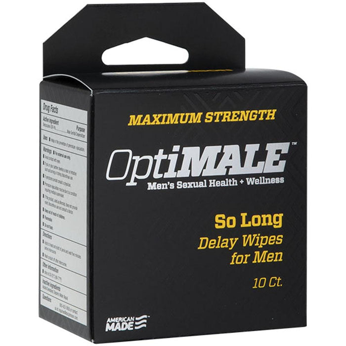 optimale so long delay wipes for men 10 ct cheap sex toys