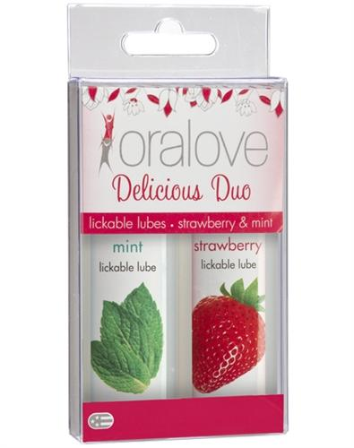 oral love dynamic duo strawberry and mint