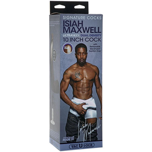 signature cocks isiah maxwell 10 inch ultraskyn cock with removable vac u lock suction cup