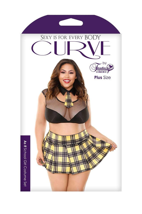 Sexy Lingerie Megastore as if school girl costume set black yellow 1x2x