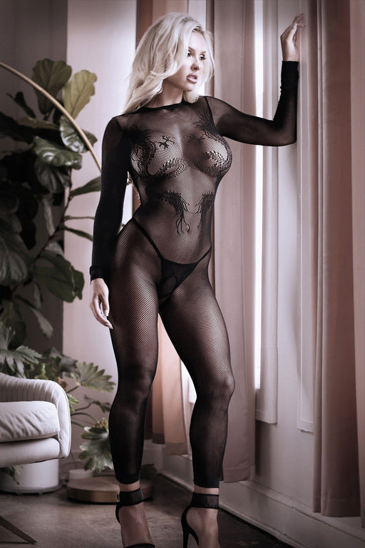 Sexy Lingerie Megastore unleash me keyhole dragon footless bodystocking one size
