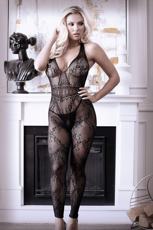 Sexy Lingerie Megastore good as hell halter lace footless bodystocking one size