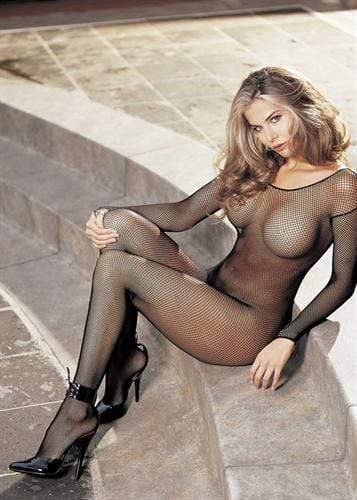 fishnet body stocking one size black 2