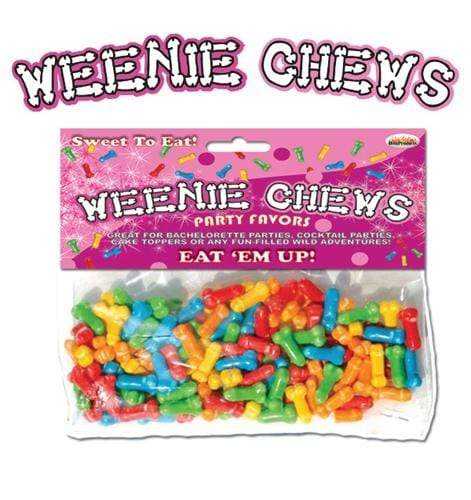 weenie chews multi flavor assorted penis shaped candy 125 piece bag