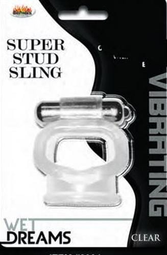 wet dreams super stud sling clear