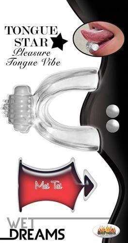 tongue star tongue vibe with 10 ml liquor lube clear cheap sex toys