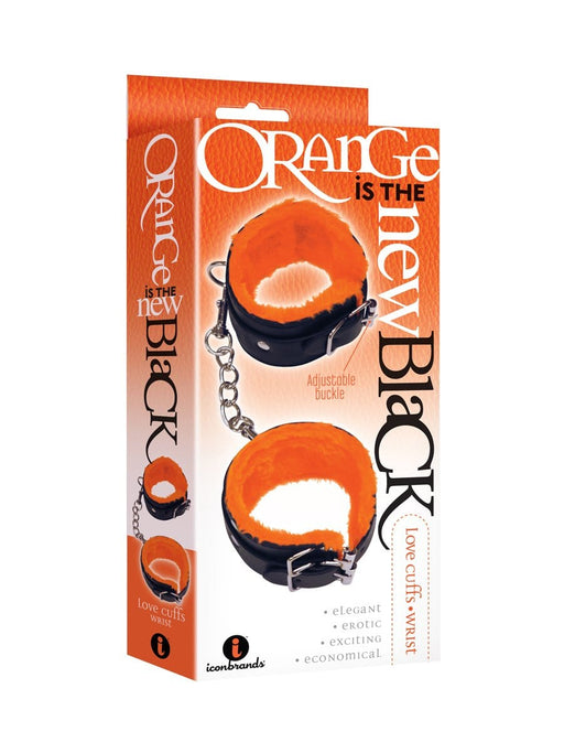 the 9s orange is the new black love cuffs wrist black