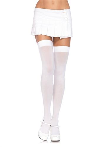 opaque thigh highs one size white cheap sex toys
