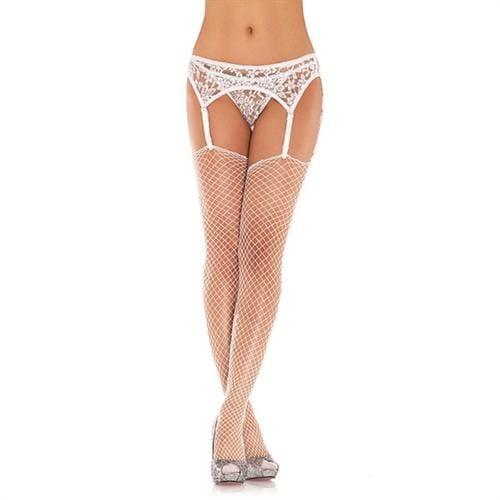 lace garterbelt and thong one size white